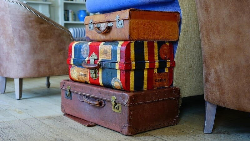 Pack all of your essentials in an easy-to-access suitcase during the move.